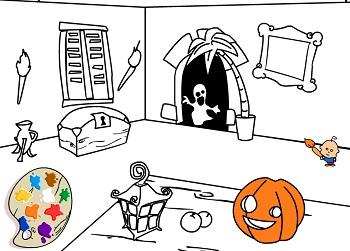 Хэллоуин раскраска игры